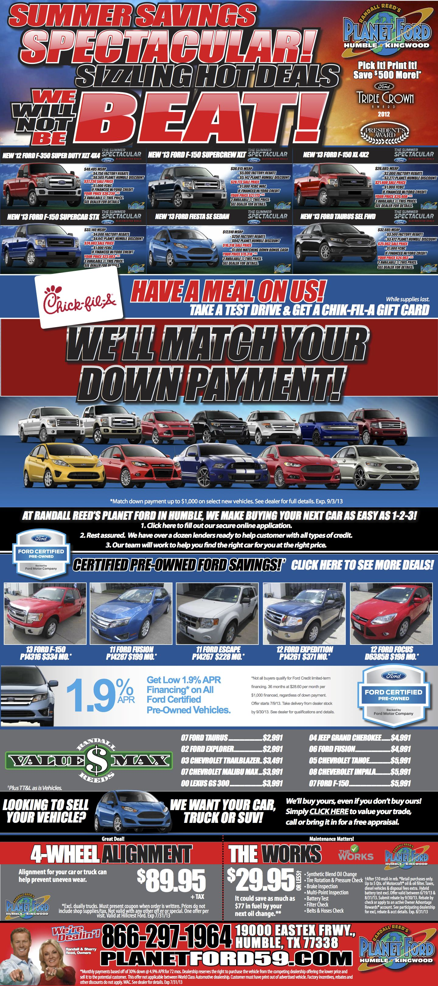 Planet Ford Used Cars Houston Tx