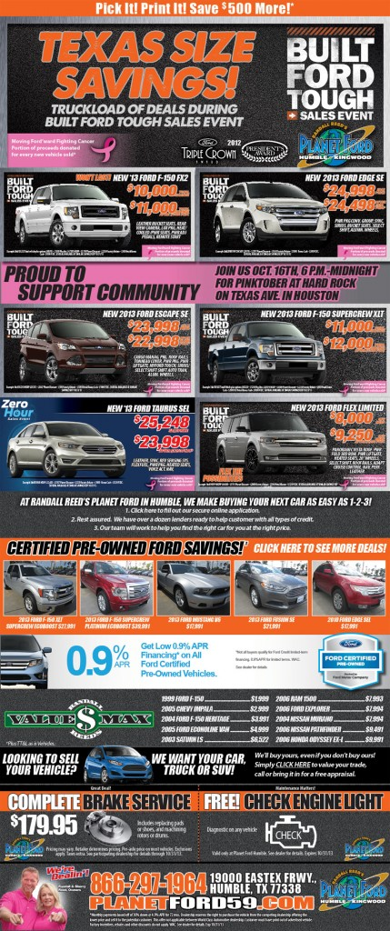 Planet Ford Humble Sales