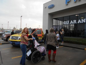 Mosaic and Best Buddies arrive at Planet Ford in Humble, Texas (serving Houston) to pick up custom Expedition donated from Randall and Sherry Reed and Planet Ford.