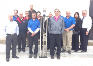 Planet Ford in Humble award-winning team with their latest trophy for #1 Customer Satisfaction in the Houston area.