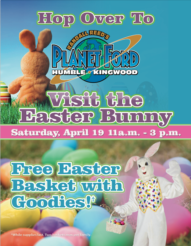Easter Flyer for Planet Ford in Humble