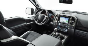 F-150 Raptor€'s interior design is about creating a comfortable place for the driver and passengers.