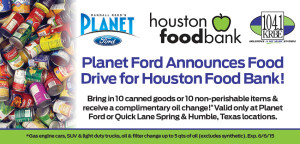planet ford houston food drive oil change